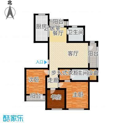 宏盛锦江玫瑰园141.43㎡C8户型