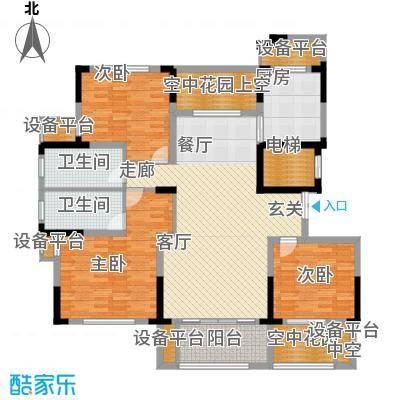 大地香漓湾143.00㎡A户型