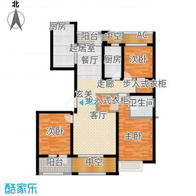 宏盛锦江玫瑰园138.38㎡C7户型