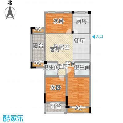 清华名家114.00㎡B面B2-C西114M2户型