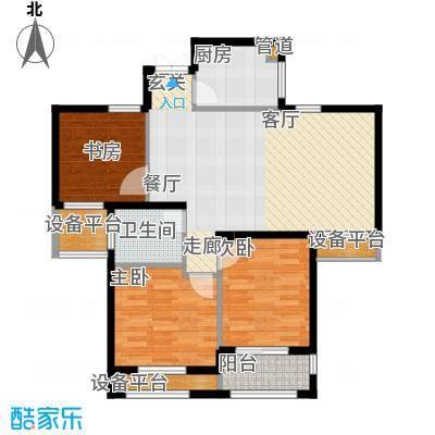 润达锦秀河山92.58㎡R1位户型