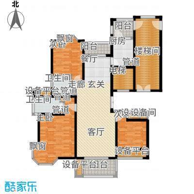 润达锦秀河山142.00㎡H户型