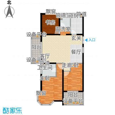 润达锦秀河山128.00㎡C户型