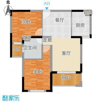 中冶梧桐园87.00㎡高层A3户型