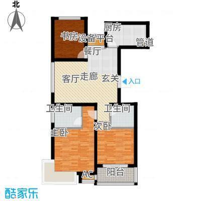 香江名邸113.80㎡B11户型