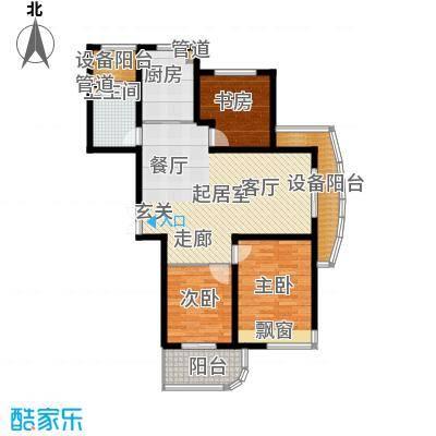 日顺汇锦园105.00㎡17东边套户型