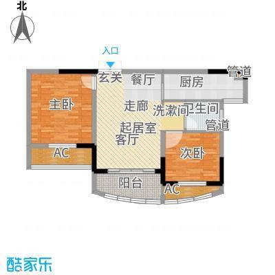 日顺汇锦园81.00㎡3B-1户型