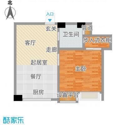 宝利国际63.00㎡水岸商务住宅户型
