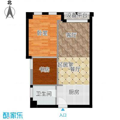 颐高数码港73.00㎡单身公寓面积7300m户型