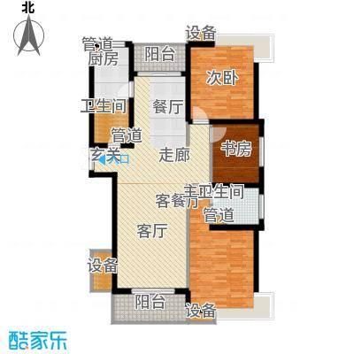 都市文涛苑135.00㎡33幢标准层D1面积13500m户型