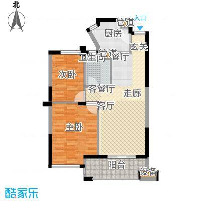 盛世豪庭81.72㎡三期C面积8172m户型