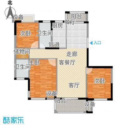 盛世豪庭131.63㎡三期F面积13163m户型