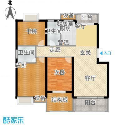 米兰风景128.00㎡三期花园洋房F2、3层户型