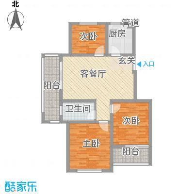 嘉盛龙庭90.00㎡小高层G1户型