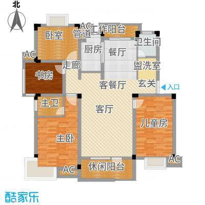 浙水阳光天地142.00㎡普通住宅C户面积14200m户型