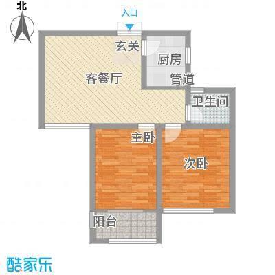 嘉盛龙庭85.00㎡高层B2户型