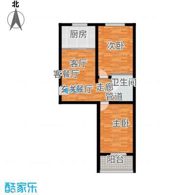阳光新馨家园78.00㎡一楼H面积7800m户型