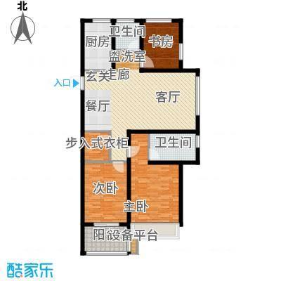 锦绣江南126.00㎡1#、2#高层H户型