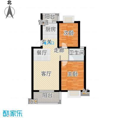 丽阳景苑86.14㎡普通住宅面积8614m户型