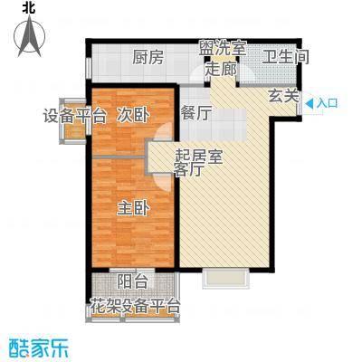 丽景蓝湾89.79㎡B区1#D2面积8979m户型