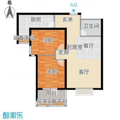 丽景蓝湾95.18㎡B区1#D3面积9518m户型