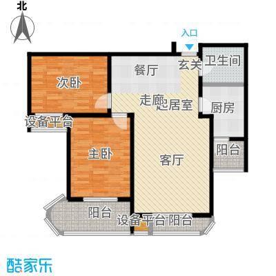 丽景蓝湾111.34㎡J面积11134m户型