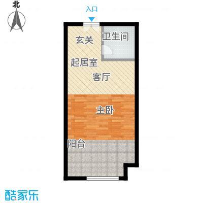 熙悦山48.00㎡A户型