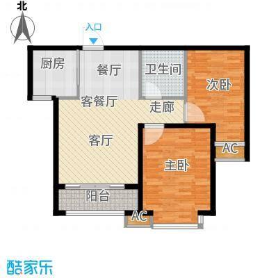 鑫丰近水庭院82.44㎡3号楼B户型