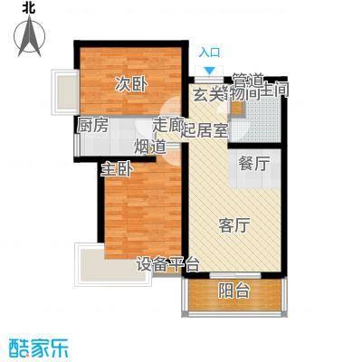 双清别院89.45㎡3D户型