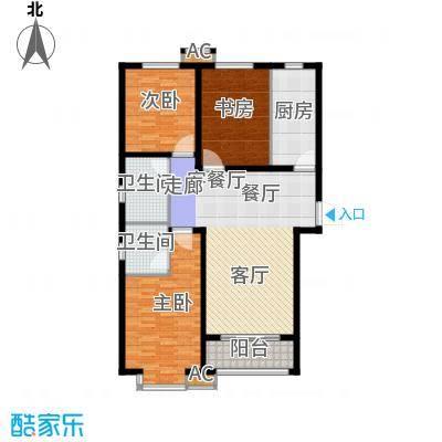 鑫丰近水庭院126.47㎡3号楼A户型