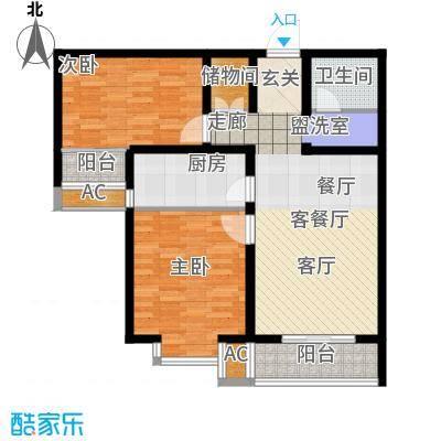 鑫丰近水庭院88.79㎡已售完1号楼E-1户型