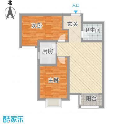 双清别院92.78㎡3B户型