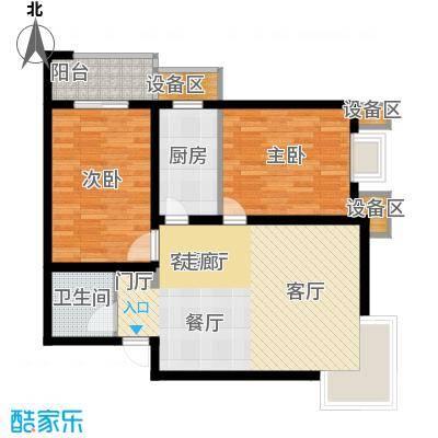 文津花园81.00㎡8、9号楼两居户型
