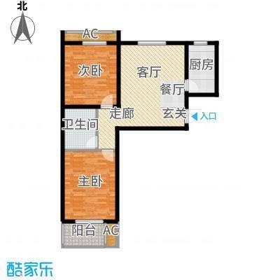 悦水澜庭89.06㎡10号楼A1户型