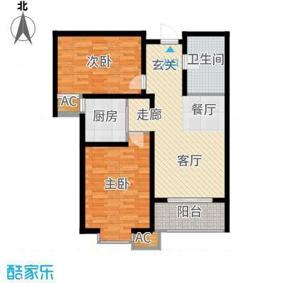 悦水澜庭91.03㎡10号楼E2户型