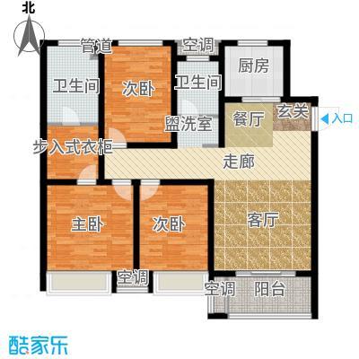 朝阳首府128.94㎡高层D户型