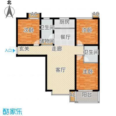 悦水澜庭129.99㎡10号楼A3户型
