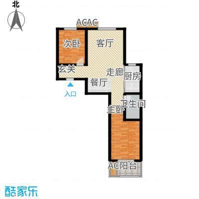 悦水澜庭92.74㎡10号楼E4户型