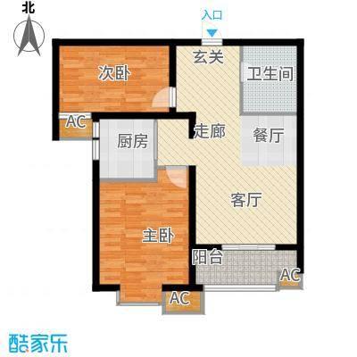 悦水澜庭86.85㎡10号楼A2户型