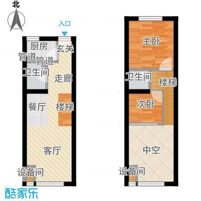 裕东公寓57.00㎡LOFT1-1-05户型