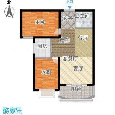 崇城国际89.88㎡B8户型
