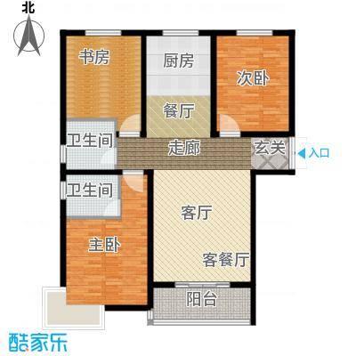 崇城国际124.56㎡C14户型