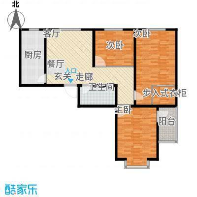 吉隆公寓111.92㎡F户型