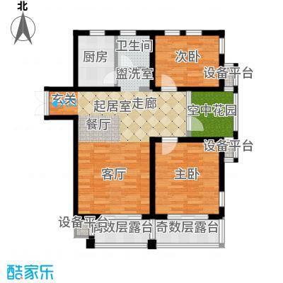 东市尚品89.34㎡b52218934户型