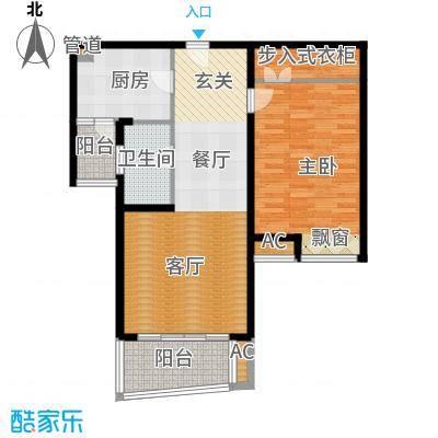 鸿城铂兰湾88.00㎡鸿城・铂兰湾B户型
