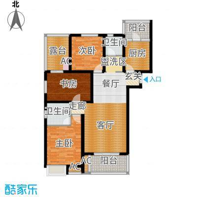 鸿城铂兰湾127.00㎡鸿城・铂兰湾K户型