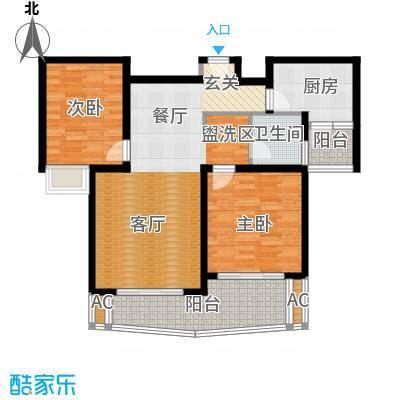 鸿城铂兰湾99.00㎡鸿城・铂兰湾H户型