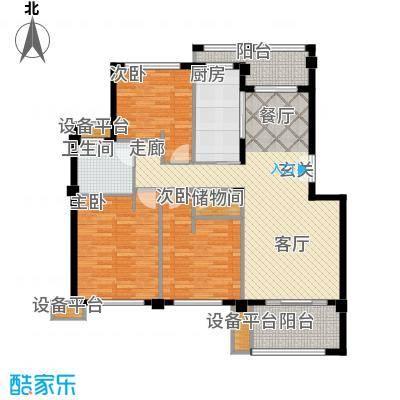 邦泰中央花城118.00㎡B户型