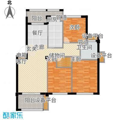 邦泰中央花城115.00㎡B户型