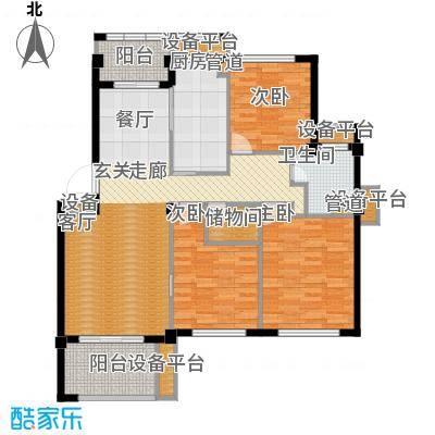 邦泰中央花城110.00㎡B1户型